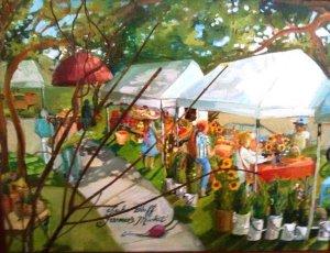 market painting
